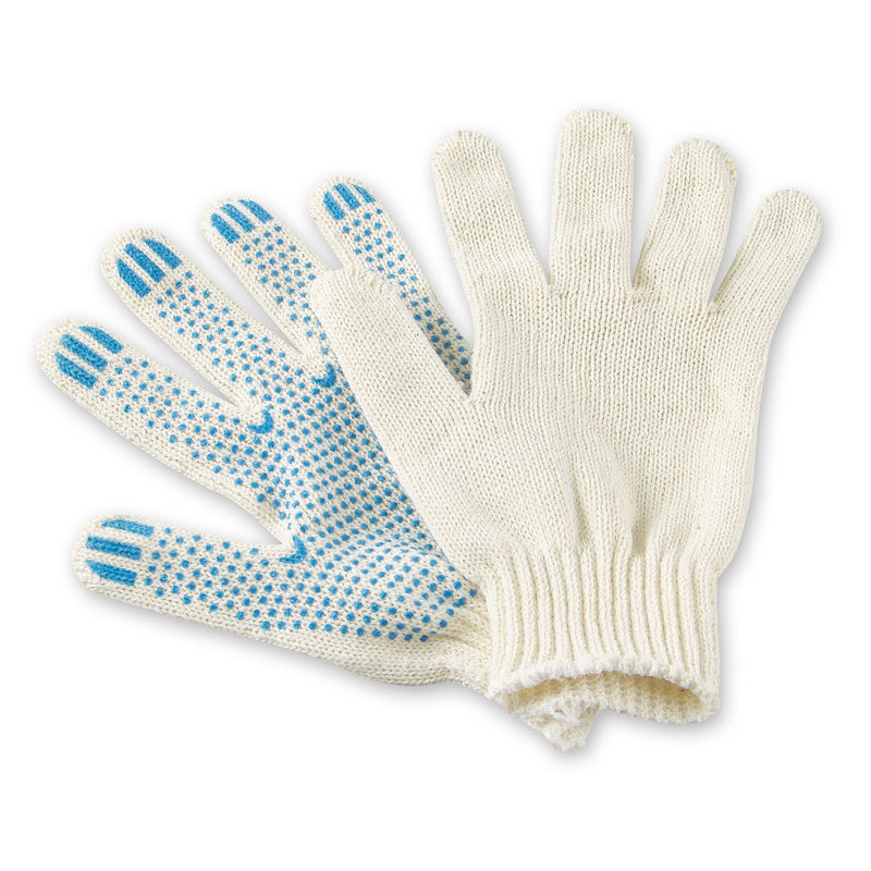 Перчатки защитные трикотажные Эконом ПВХ Точка 2 нити 28г 7 класс