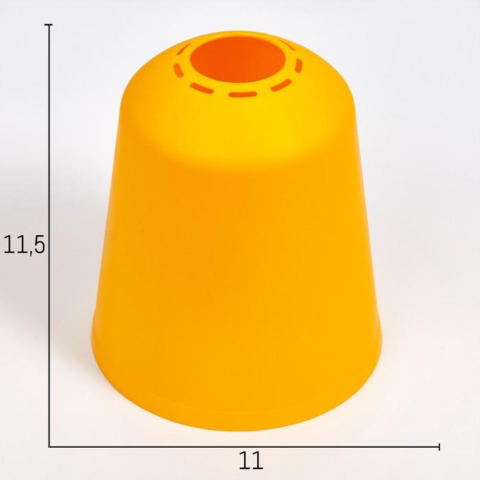 "Плафон универсальный ""Цилиндр""  Е14/Е27 желтый 11х11х12см"