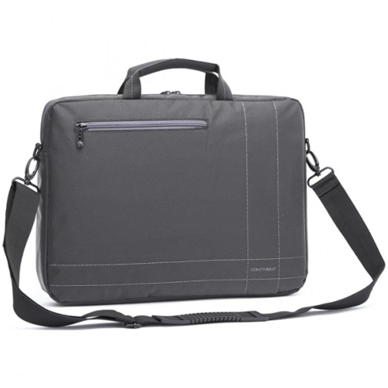 "Сумка для ноутбука 15,6"" Continent CC-201 полиэстер, нейлон, серый, 400*300*50мм"