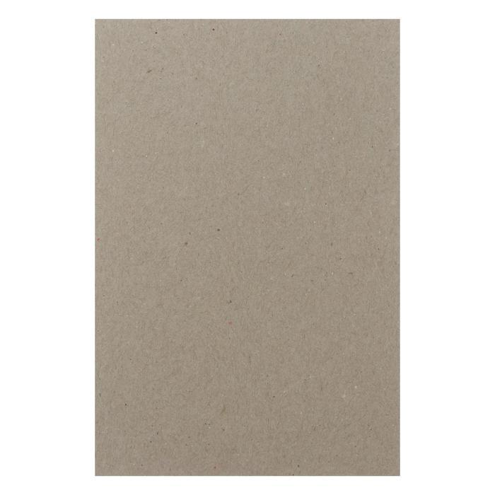 Картон переплетный 0.9 мм 10*15 см 540 г/м? серый