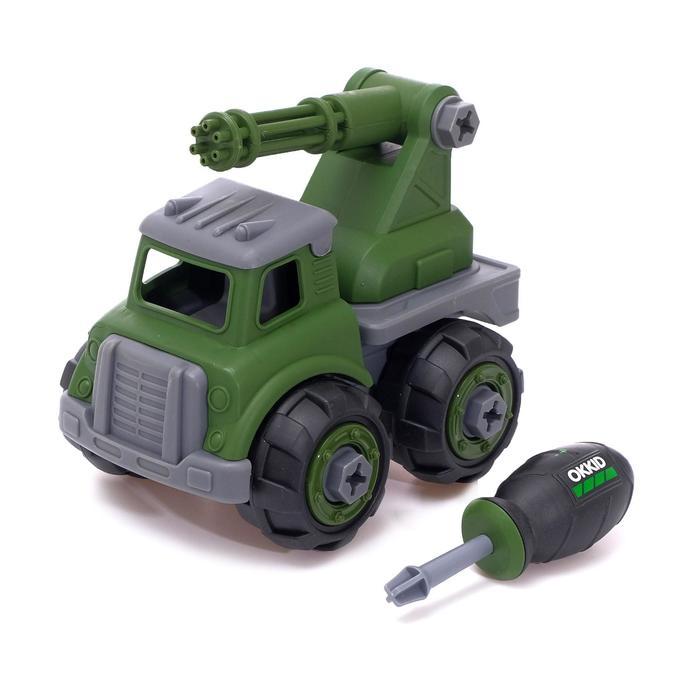 Конструктор винтовой» Военный транспорт», с пулемётом