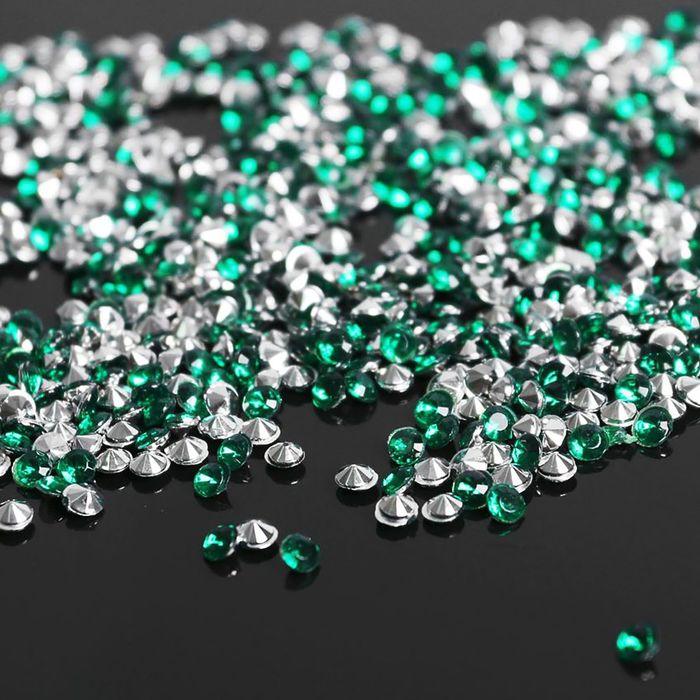 Стразы (набор 10грамм), 3мм, цвет тёмно-зеленый №16