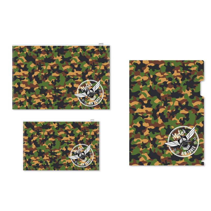 Набор папок 1School Military3шт/уп(уголок А4, конверт зип-лок А4 и А5)