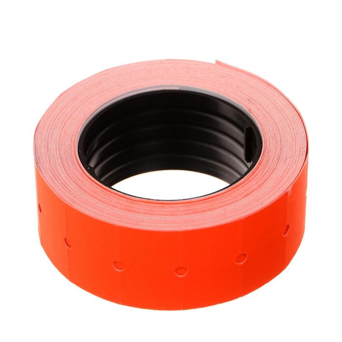 Этикет-лента 21*12мм, прямоугольная, красная, 500 этикеток