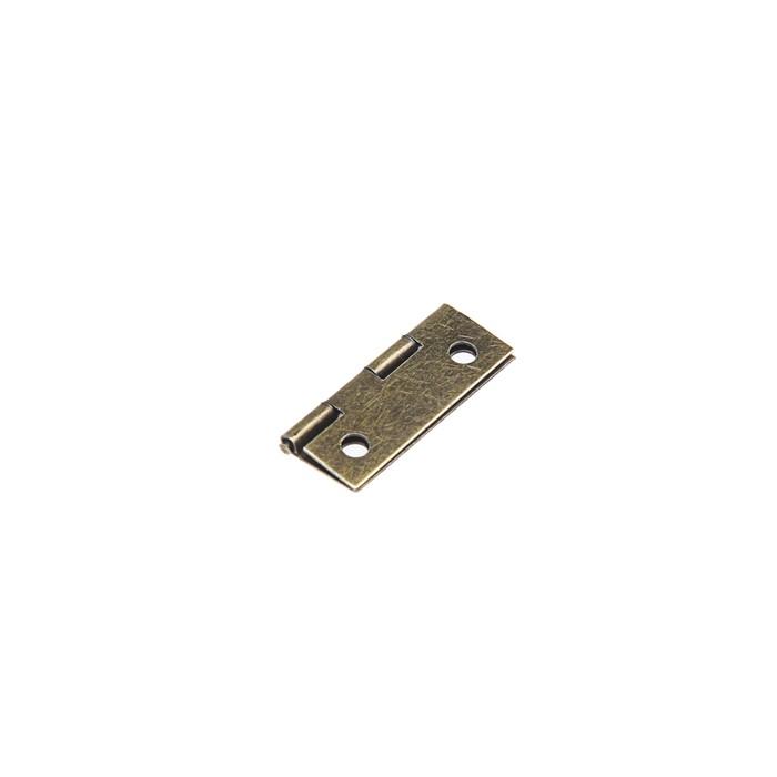 Петля железная, 16х24х0.9 мм,  цвет бронза