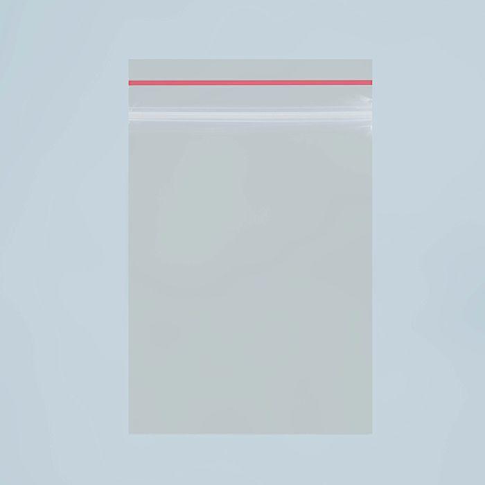 Пакет zip lock 7 х 5 см, 35 мкм (с красной полосой)