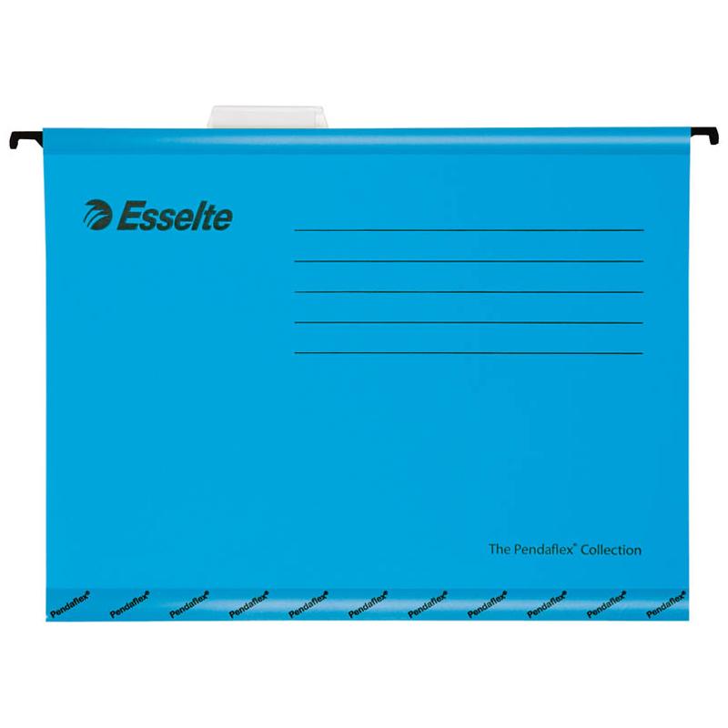 """Подвесная папка Esselte """"Pendaflex Plus Foolscap"""", 240*412мм, картон, 210г/м2, синяя"""