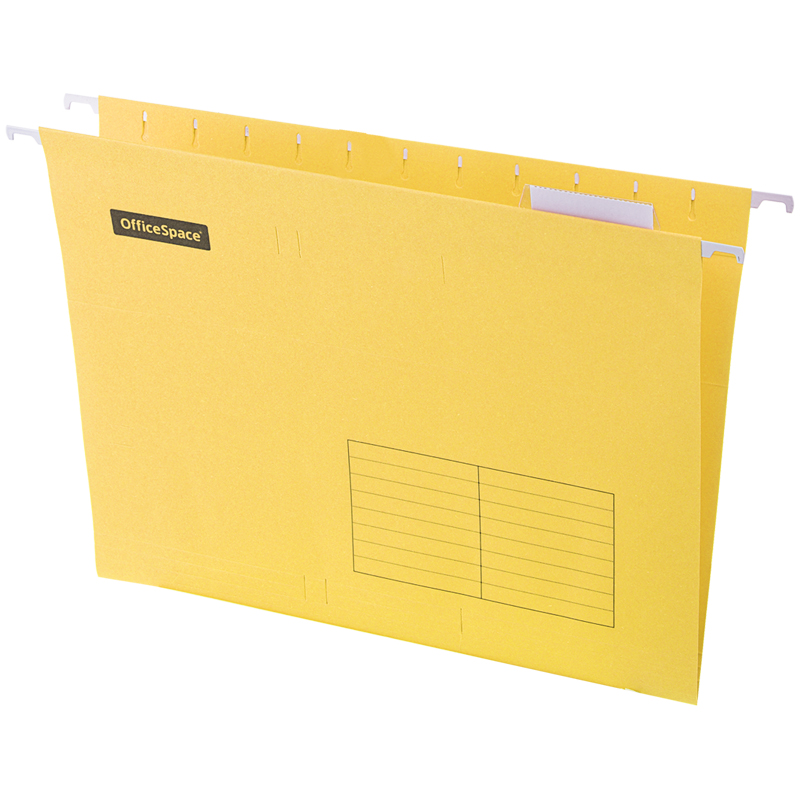 Подвесная папка OfficeSpace А4 (310*240мм), желтая