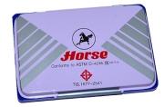 Штемпельная подушка Horse, 85*55мм, синяя, металлическая