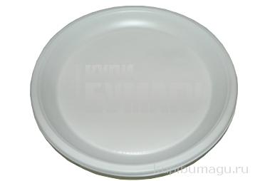 Тарелка одноразовая десертная d=170 мм белая 100шт/уп~~