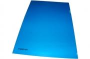 Папка-уголок inФОРМАТ А4 синий пластик 180мкм
