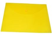 Пласт. конверты inФОРМАТ А4 непрозрачный желтый пластик 150мкм на кнопке