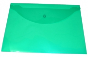 Пласт. конверты inФОРМАТ А4 непрозрачный зеленый пластик 150мкм на кнопке