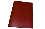 Папка с зажимом inФОРМАТ А4 красный пласт карман
