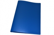 Папка с зажимом inФОРМАТ А4 синий пласт карман
