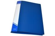 Папка с прижимами inФОРМАТ 1 зажим А4 синий пластик 0, 75 мм карман