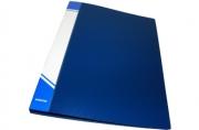 Папка с кольцами inФОРМАТ 2 кольца А4 синий пластик 25 мм
