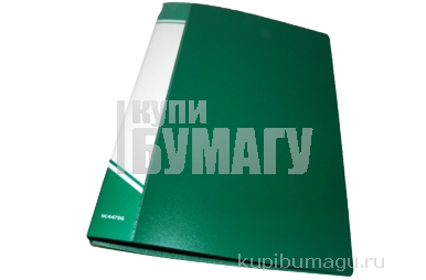 Папка скоросшиватель inФОРМАТ А4 зеленый пластик 700 мкм карман