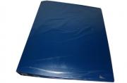 Папка с кольцами inФОРМАТ 4 кольца А4 синий пластик 40 мм