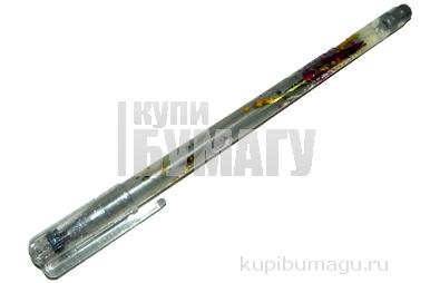 "Ручка гелевая Crown ""Glitter Metal Jell"" серебро с блестками, 1, 0мм"