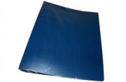 Папка 2 кольца 40мм синий пластик А4 InФОРМАТ