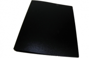 Папка с кольцами inФОРМАТ 2 кольца А4 черный пластик 40 мм
