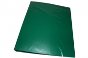 Папка с 2-кольцами InФОРМАТ А4 зеленый пластик 40мм