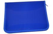 Папка д/тетрадей А5 молния пластик ПРОФ-ПРЕСС синяя