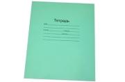 Тетрадь 18линия Маяк офсет, с полями, зеленая обложка