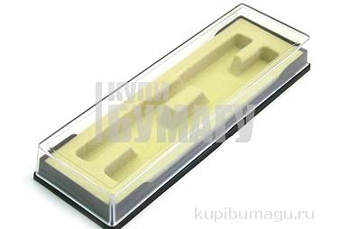 Футляр для ручек арт. 103 (2pcs) пласт., прозр. крышка, 2-х предмет.