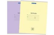 """Тетрадь 12клетка BRAUBERG """"ЭКО"""", обложка плотная мелованная бумага, АССОРТИ (5 видов), 10567"""