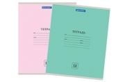 Тетрадь 12л. BRAUBERG ЭКО линия, обложка плотная мелованная бумага, АССОРТИ (5 видов), 105672