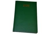 Ежедневник датированный 2020 А5, твердая обложка бумвинил, зеленый, 145*215мм, BRAUBERG, 110910