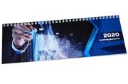 2020 Планинг настольный 2020, обложка картон на спирали, Бизнес, 60 л., 285*112 мм, STAFF, 110922