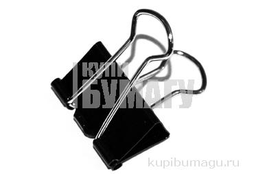 Зажимы для бумаг 25мм, Berlingo, черные, картонная коробка