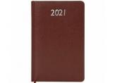 2021 Ежедневник датированный 2021 А5 (138х213мм) BRAUBERG Profile, балакрон, коричневый, 111383