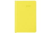 2021 Ежедневник датированный 2021 А5 (138х213мм) BRAUBERG Select, балакрон, желтый, 111402