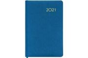 2021 Ежедневник датированный 2021 А5 (138х213мм) BRAUBERG Select, балакрон, голубой, 111404