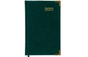 2021 Ежедневник датированный 2021 А5 (138х213мм) BRAUBERG Senator, кожзам, зеленый, 111412