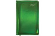 "2021 Ежедневник датированный 2021 А5 (138х213мм) BRAUBERG Holiday, кожзам ""зеркальный"", зеленый, 111"
