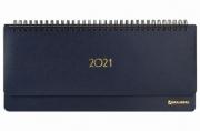 2021 Планинг датированный 2021 (305х140мм) BRAUBERG Select, балакрон, темно-синий, 111505