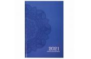 2021 Ежедневник датированный 2021 А5 (145х215мм), ламинированная обложка, STAFF, Узор, 111816