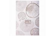 2021 Ежедневник датированный 2021 А5 (145х215мм), ламинированная обложка, STAFF, Узоры Дерева, 11181