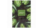 2021 Ежедневник датированный 2021 А5 (145х215мм), ламинированная обложка, STAFF, Тропики, 111823
