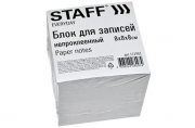 Блок для записей STAFF непроклеенный, куб 8х8х8 см, белый, белизна 70-80%, 111981