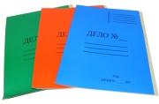 Папка-скоросшиватель A4 ДЕЛО № картонная цветная мелованная (300 гр/м2), ассорти