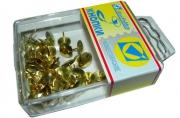 Кнопки /J. Оtten/ 50шт, 108BL, золото, пластик. коробка, европодвес /10 /0 /400