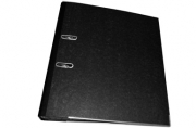 "Папка-регистратор 50мм, Berlingo ""Standard"", мрамор, с карм. на корешке, нижний метал. кант, черная"