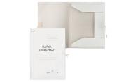 Папка с завязками картонная STAFF, гарантированная плотность 310 г/м2, до 200 листов,