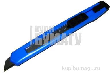 "Нож канцелярский 9мм Berlingo ""Universal"", auto-lock, металл. направл., европодвес"